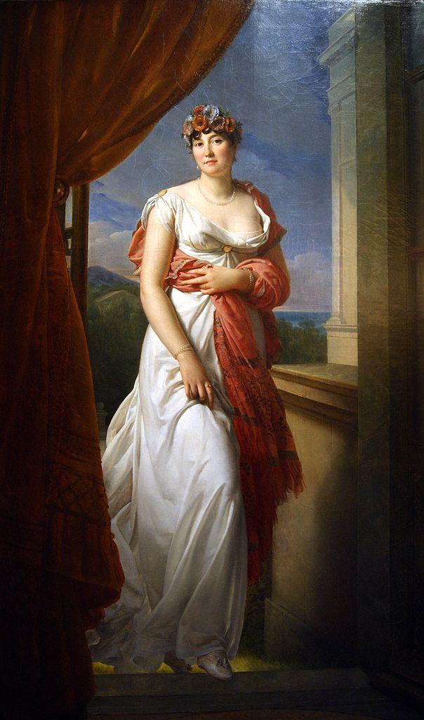 Retrato de Teresa Tallien pintado por François Gérard (1804)